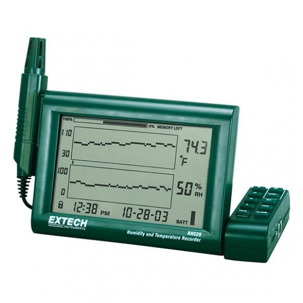 Extech RH520A-220 เครื่องวัดอุณหภูมิความชื้นแสดงผลแบบกราฟ+บันทึกค่าได้
