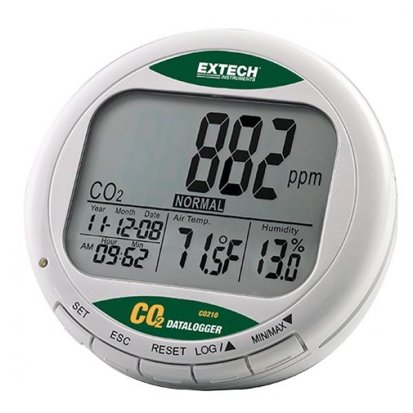 Extech CO210 เครื่องวัดก๊าซคาร์บอนไดออกไซด์ (CO2) แบบ Datalogger