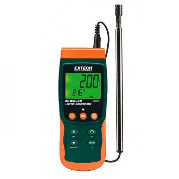 Extech SDL350 เครื่องวัดความเร็วลม Hot Wire CFM แบบ Datalogger