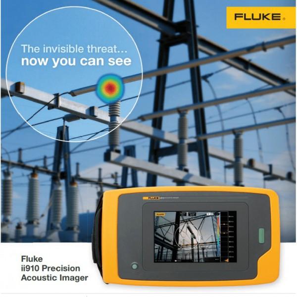 Fluke ii910 กล้องถ่ายภาพเสียงสำหรับตรวจหา Partial Discharge/ Corona และลมรั่ว