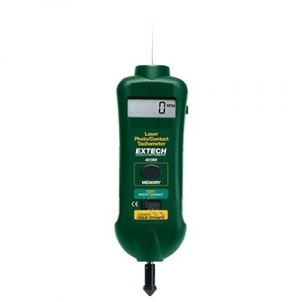 Extech 461995 เครื่องวัดความเร็วรอบแบบสัมผัสและเลเซอร์